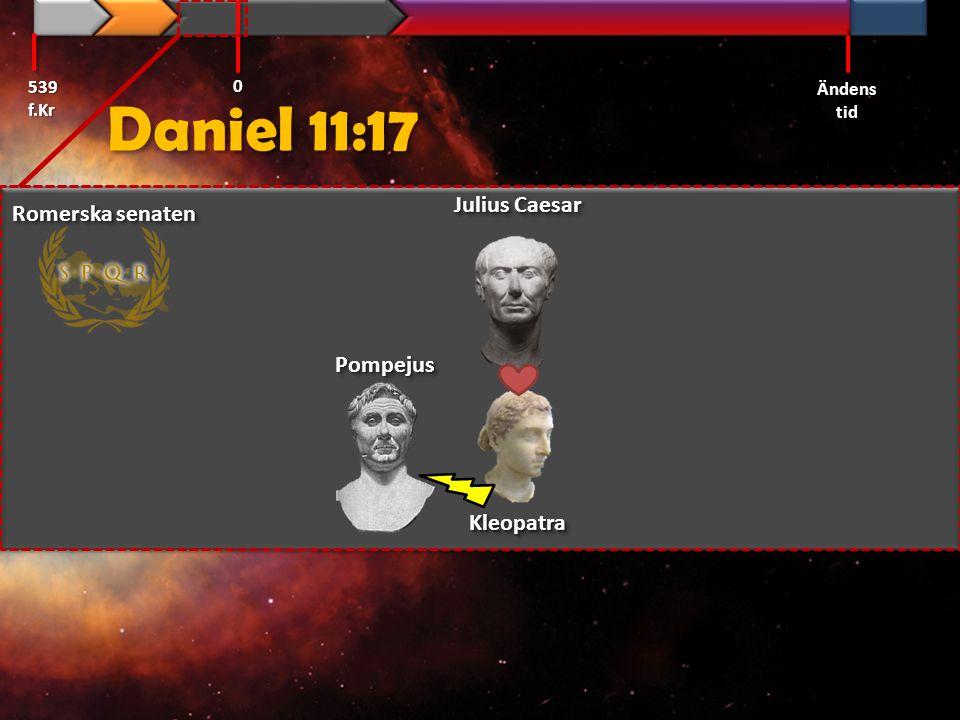 Daniel 11:17 Julius Caesar Romerska senaten Pompejus Kleopatra