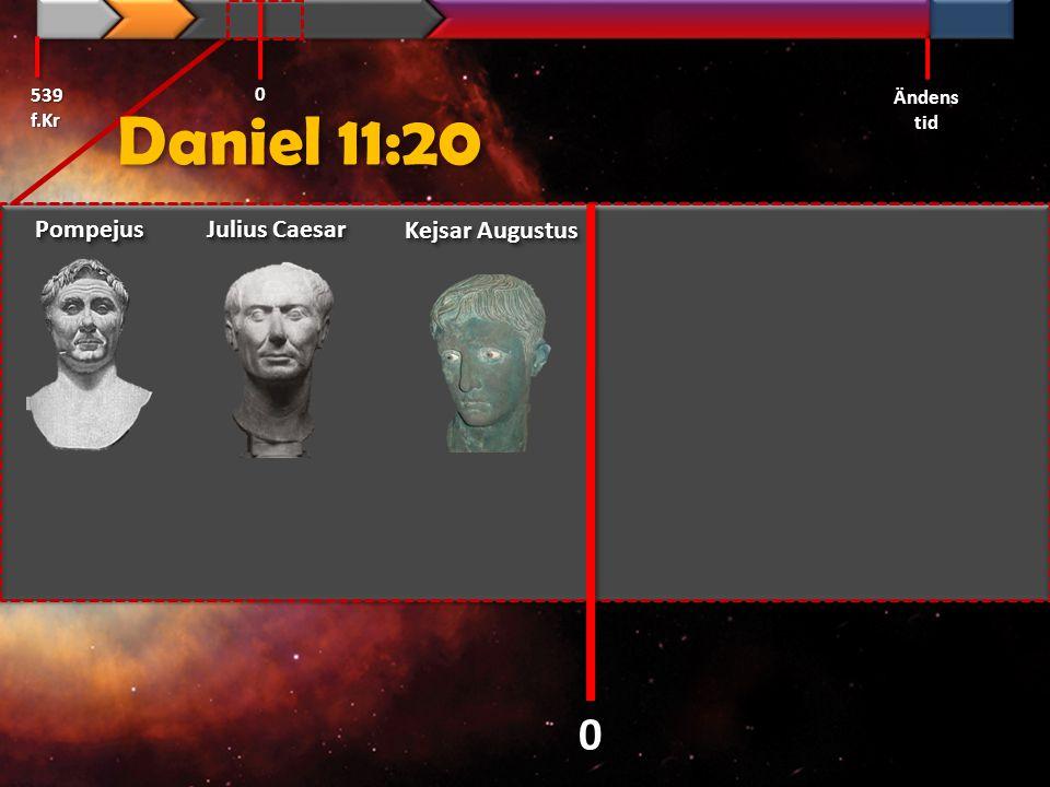 Daniel 11:20 Pompejus Julius Caesar Kejsar Augustus 539 f.Kr