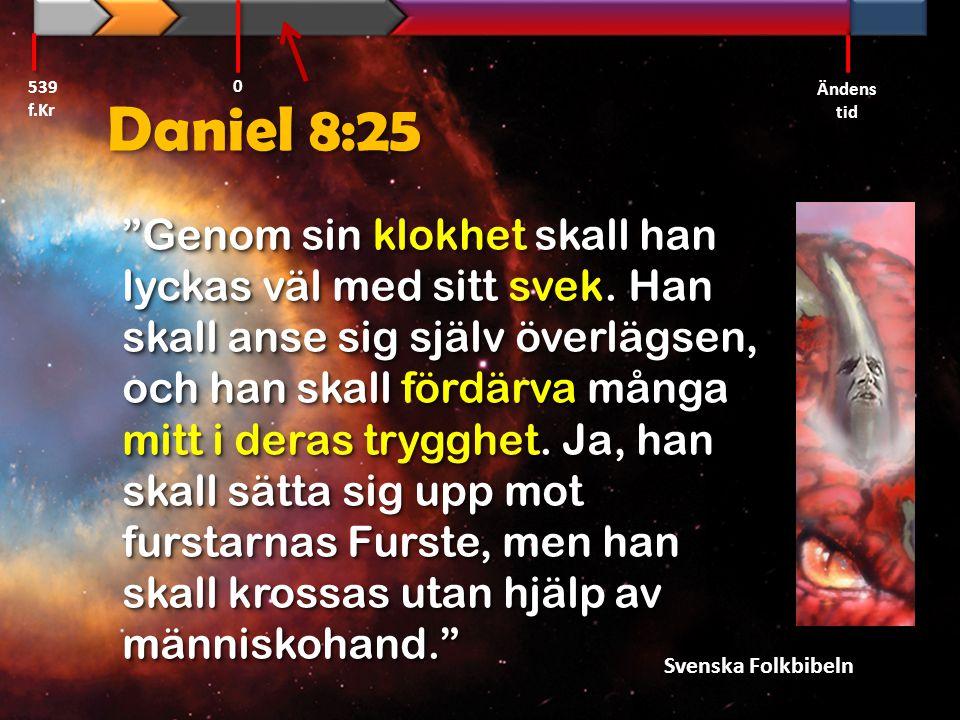 539 f.Kr Ändens tid. Daniel 8:25.