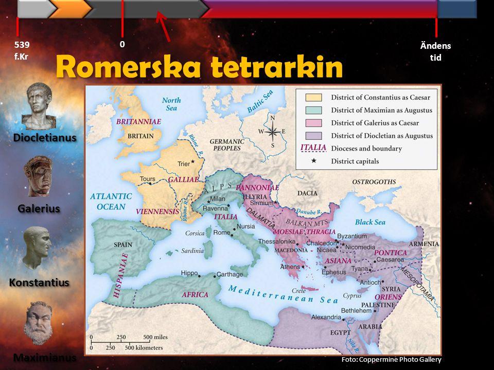 Romerska tetrarkin Diocletianus Galerius Konstantius Maximianus