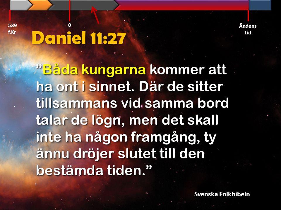 539 f.Kr Ändens tid. Daniel 11:27.