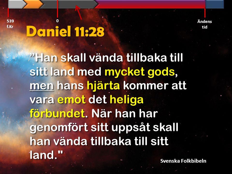 539 f.Kr Ändens tid. Daniel 11:28.