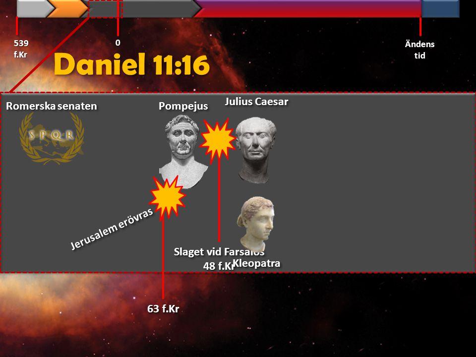 Daniel 11:16 Julius Caesar Romerska senaten Pompejus