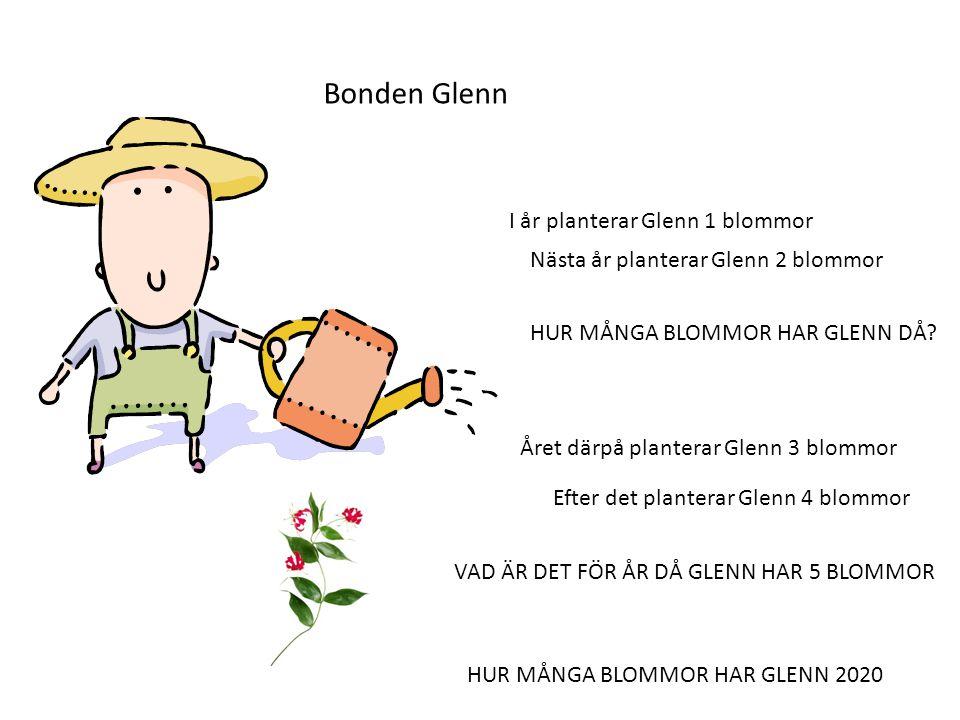 Bonden Glenn I år planterar Glenn 1 blommor
