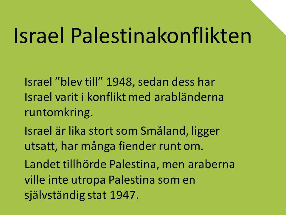Israel Palestinakonflikten