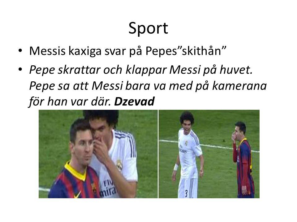 Sport Messis kaxiga svar på Pepes skithån