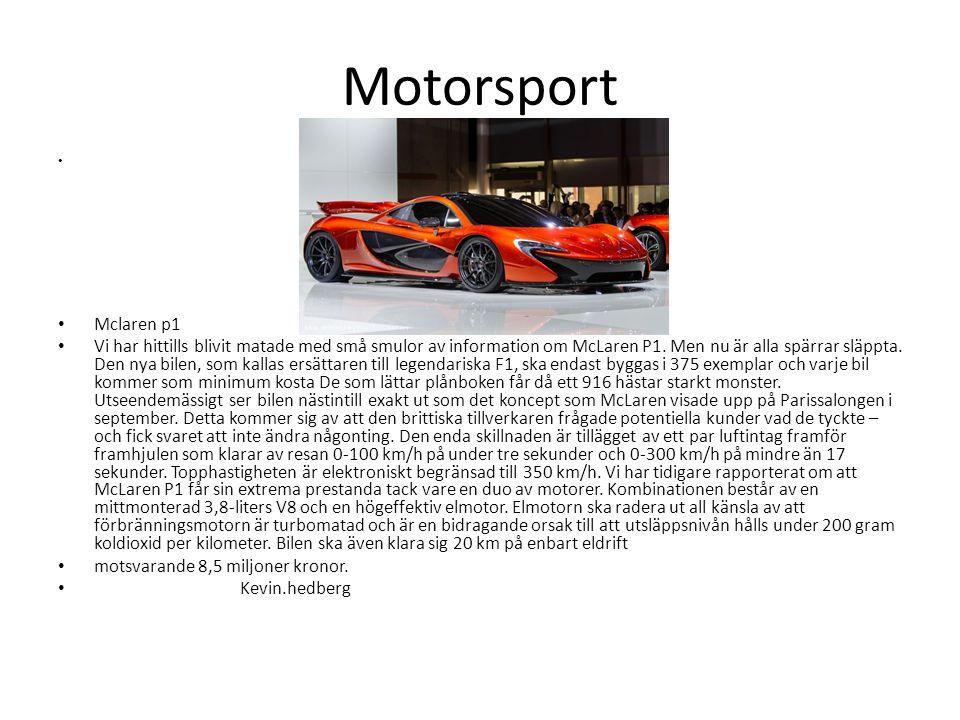 Motorsport Mclaren p1.