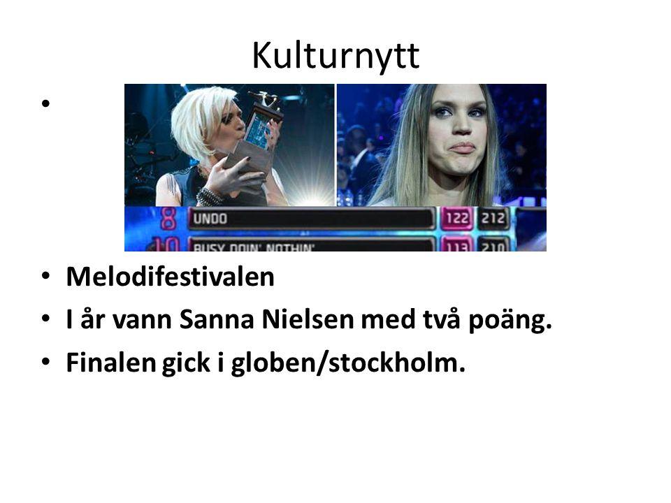 Kulturnytt Melodifestivalen I år vann Sanna Nielsen med två poäng.