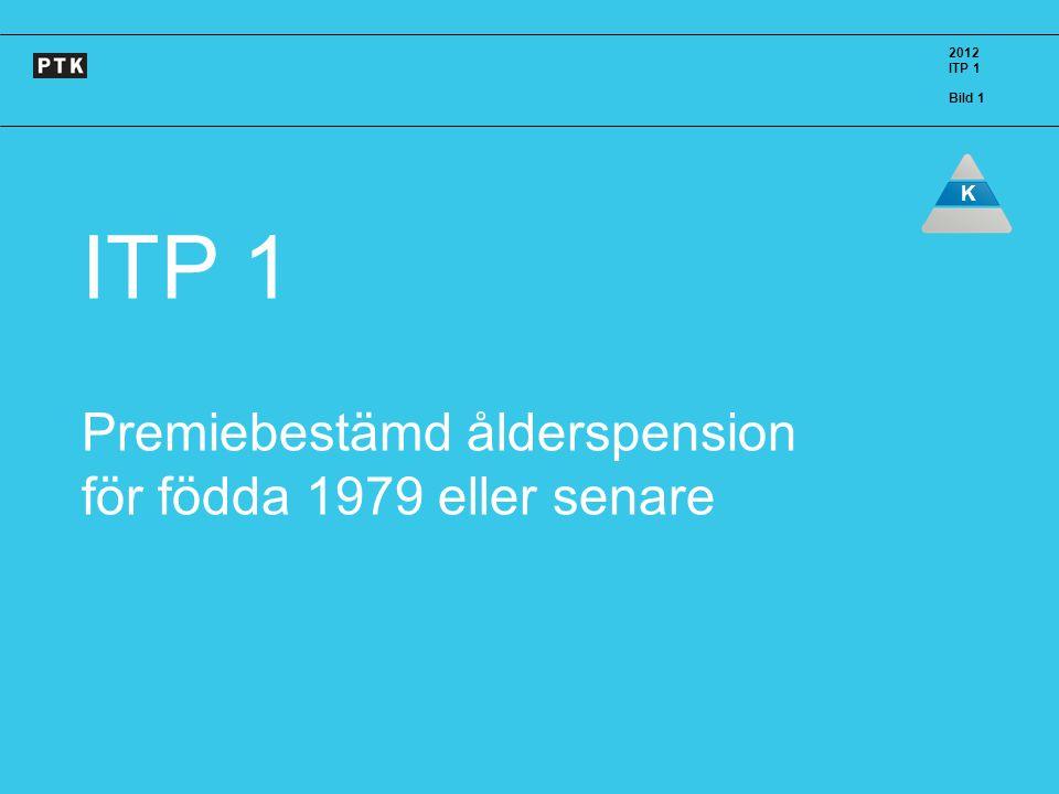 ITP 1 Premiebestämd ålderspension för födda 1979 eller senare