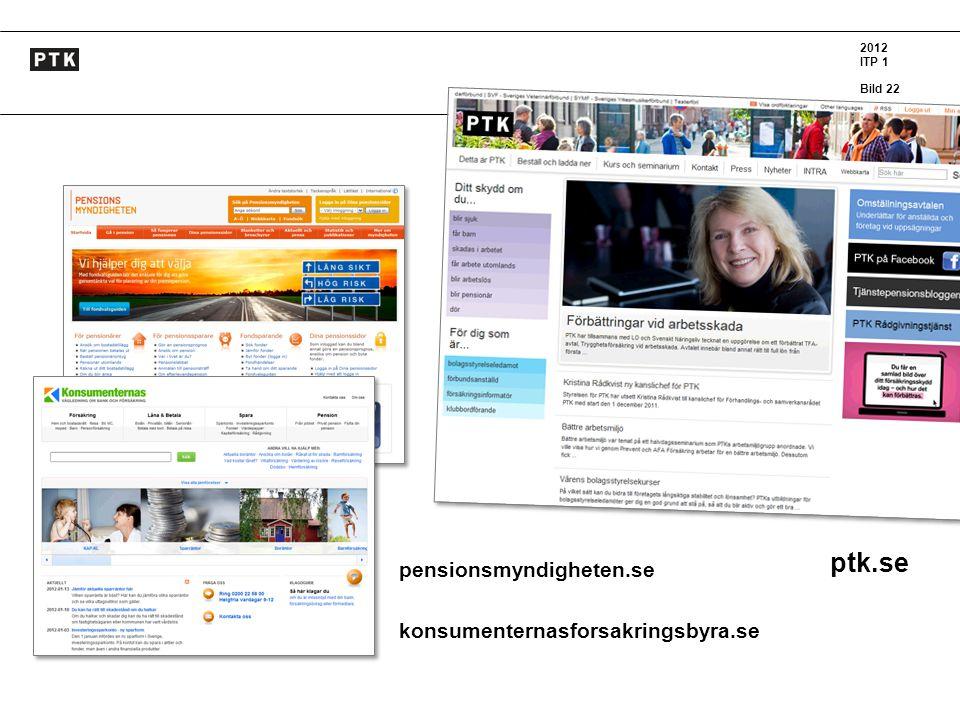 ptk.se pensionsmyndigheten.se konsumenternasforsakringsbyra.se