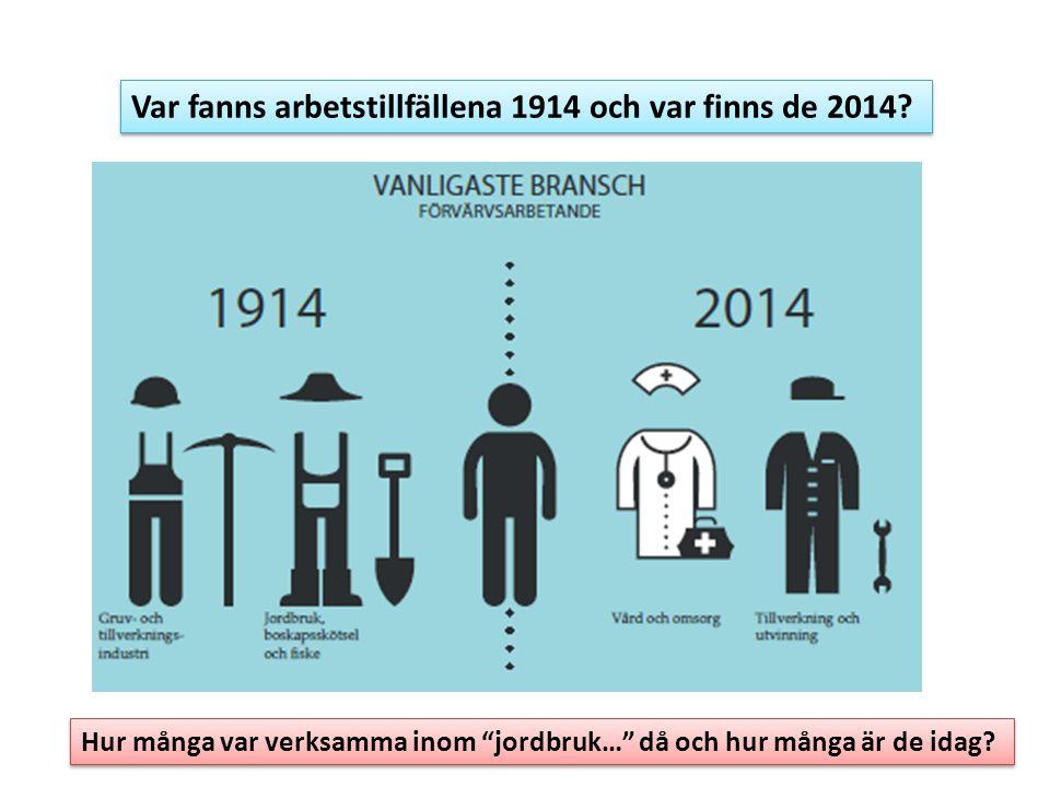 Var fanns arbetstillfällena 1914 och var finns de 2014