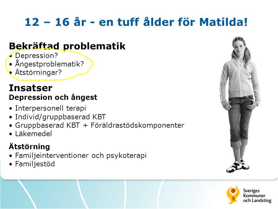 12 – 16 år - en tuff ålder för Matilda!