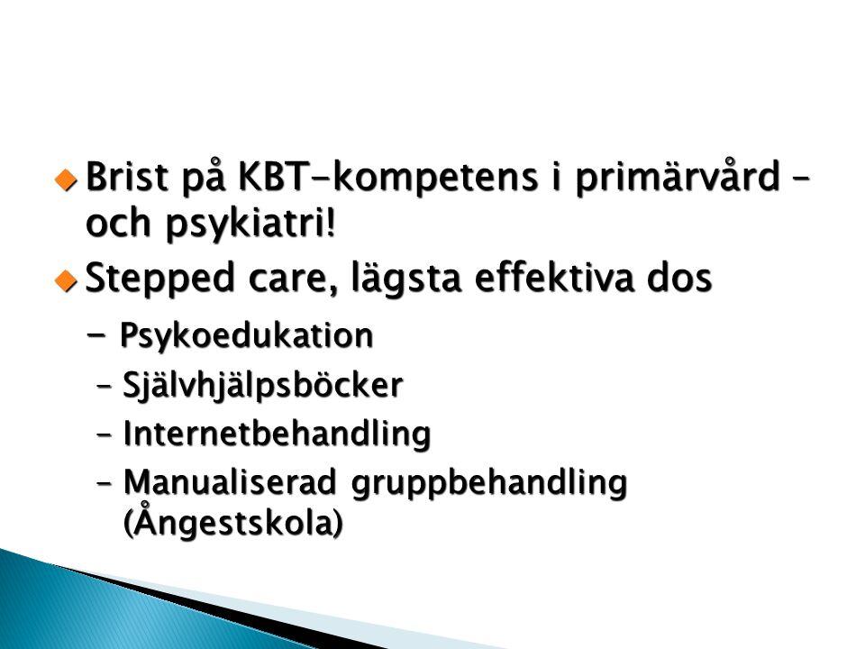 Brist på KBT-kompetens i primärvård – och psykiatri!