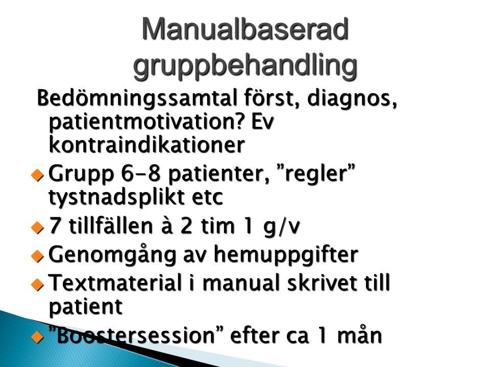 Manualbaserad gruppbehandling