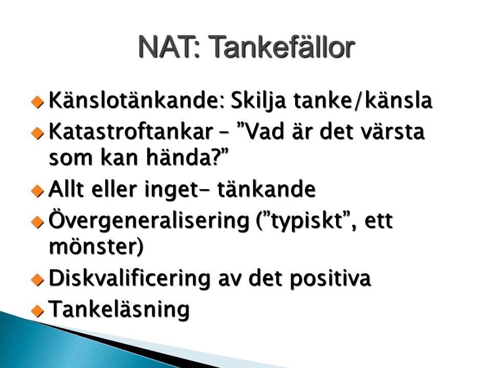 NAT: Tankefällor Känslotänkande: Skilja tanke/känsla