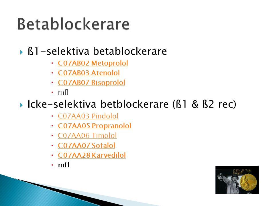 Betablockerare ß1-selektiva betablockerare