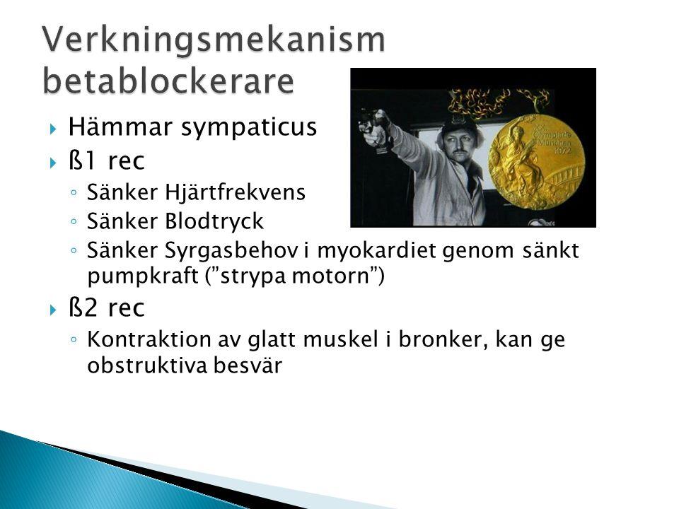 Verkningsmekanism betablockerare