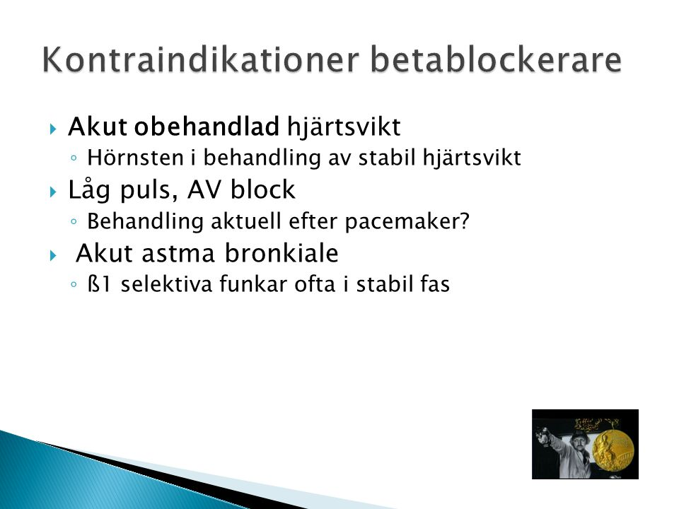 Kontraindikationer betablockerare
