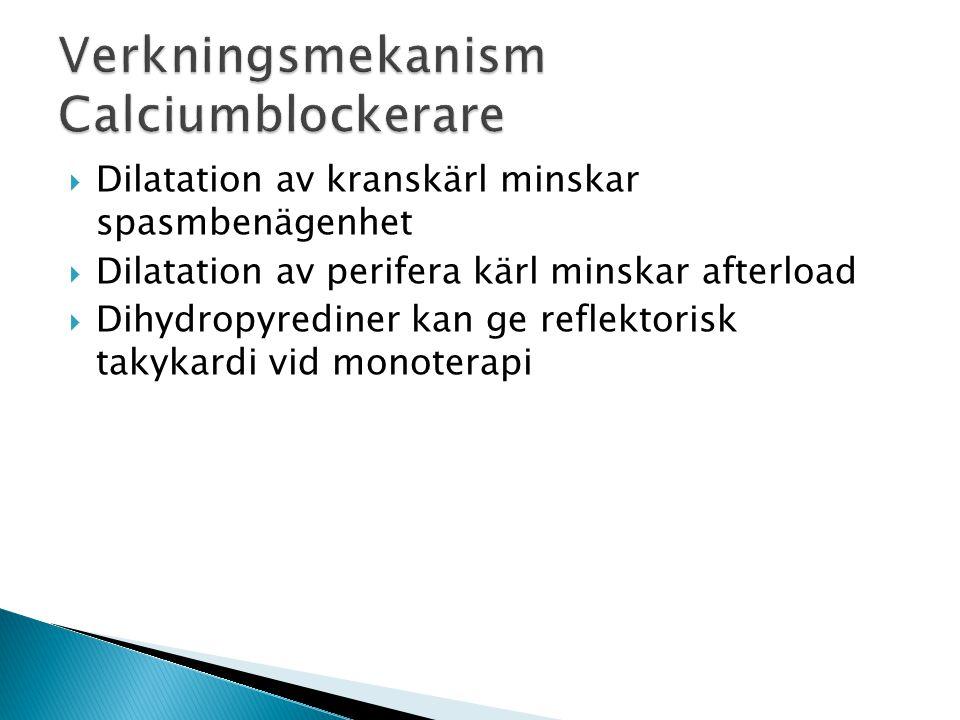 Verkningsmekanism Calciumblockerare