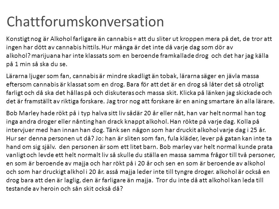 Chattforumskonversation
