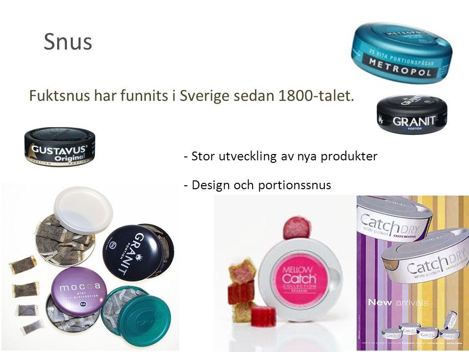 Snus Fuktsnus har funnits i Sverige sedan 1800-talet.