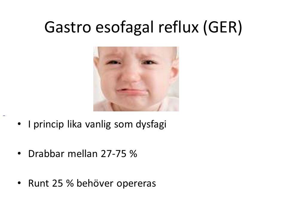 Gastro esofagal reflux (GER)