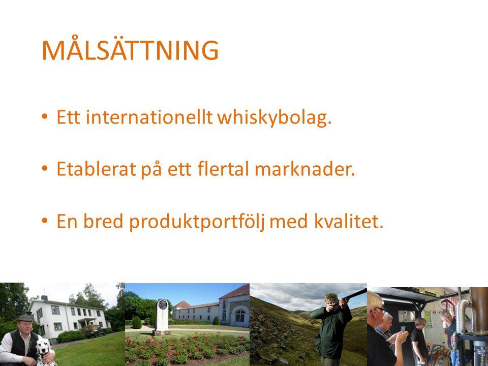 MÅLSÄTTNING Ett internationellt whiskybolag.