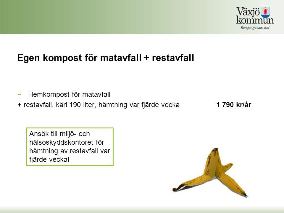 Egen kompost för matavfall + restavfall
