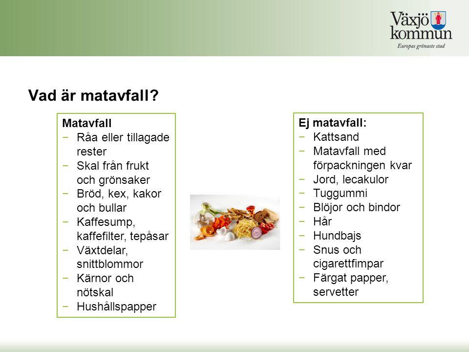 Vad är matavfall Matavfall Råa eller tillagade rester