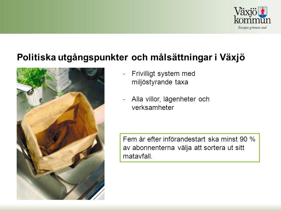 Politiska utgångspunkter och målsättningar i Växjö