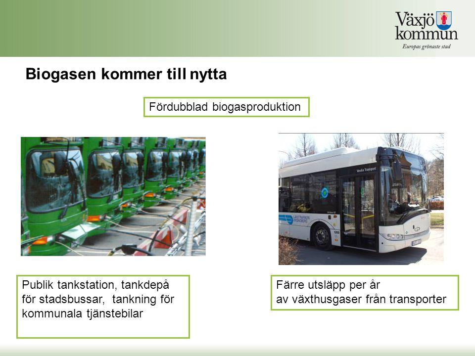 Biogasen kommer till nytta