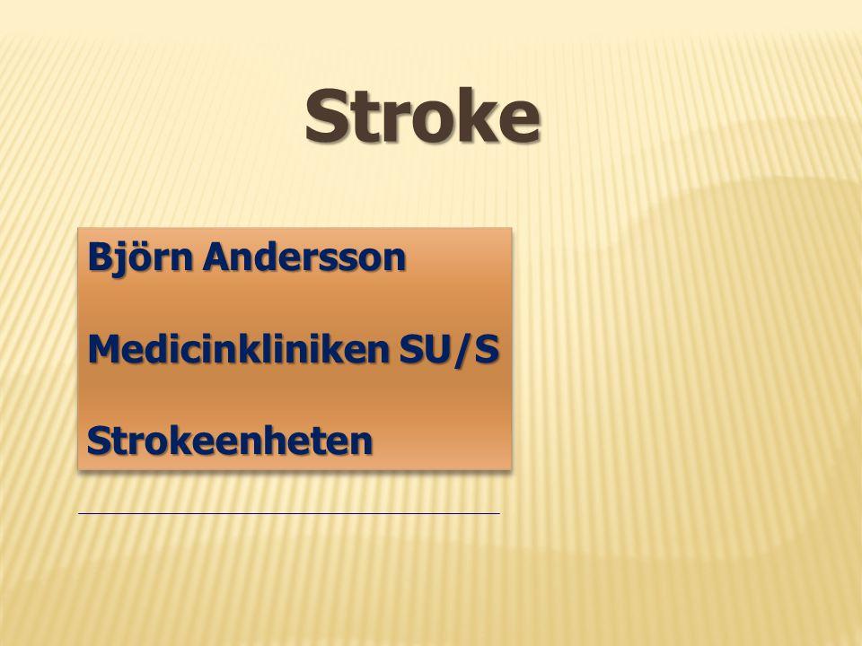 Stroke Björn Andersson Medicinkliniken SU/S Strokeenheten