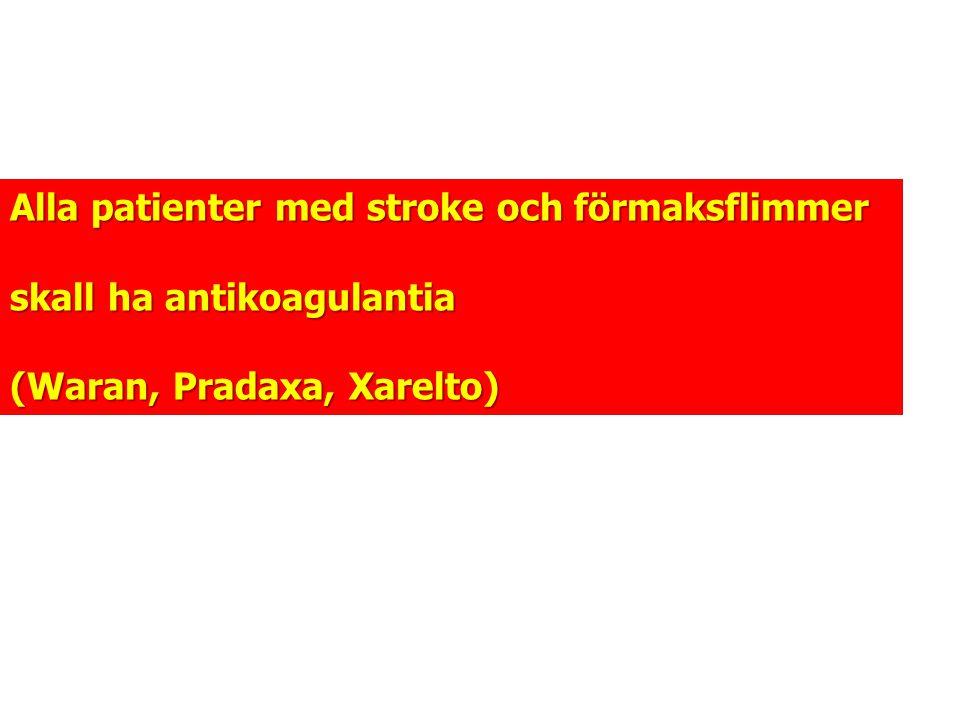 Alla patienter med stroke och förmaksflimmer