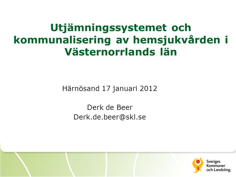 Utjämningssystemet och kommunalisering av hemsjukvården i Västernorrlands län