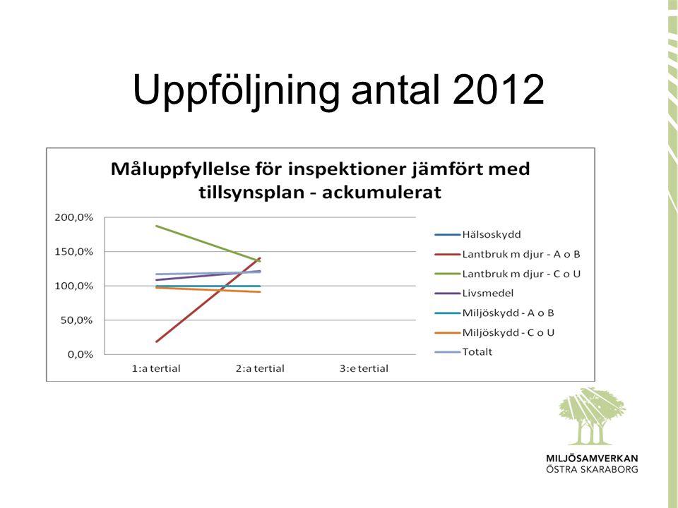 Uppföljning antal 2012