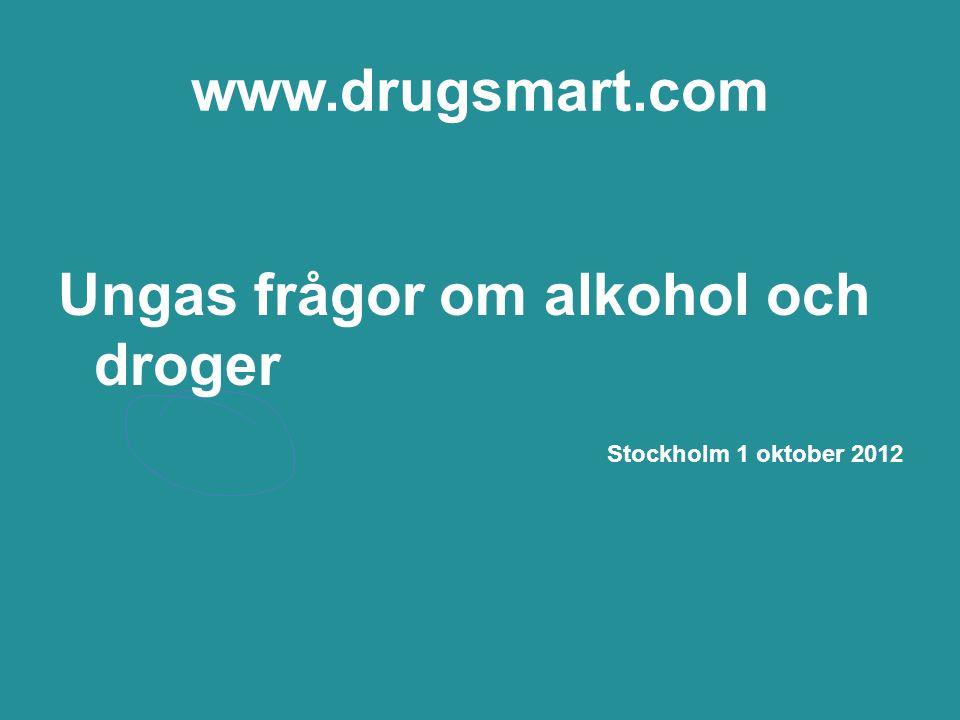 Ungas frågor om alkohol och droger