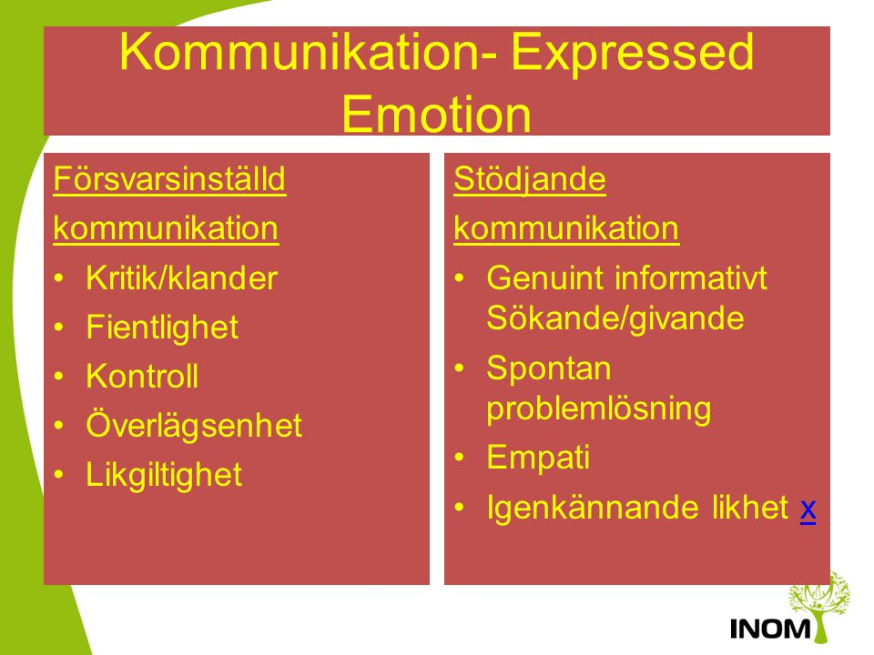 Kommunikation- Expressed Emotion