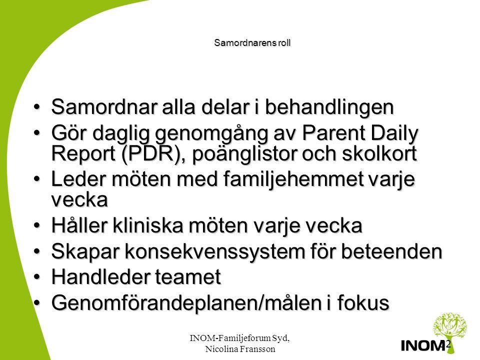 INOM-Familjeforum Syd, Nicolina Fransson