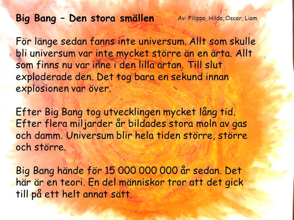 Big Bang – Den stora smällen