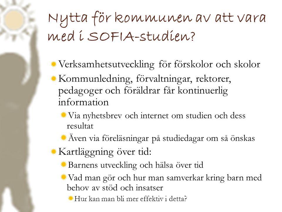 Nytta för kommunen av att vara med i SOFIA-studien