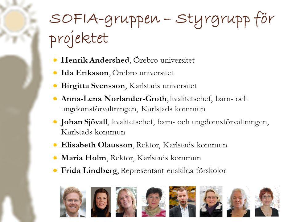 SOFIA-gruppen – Styrgrupp för projektet