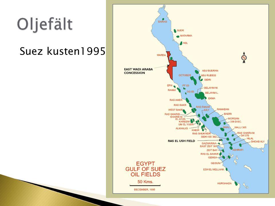 Oljefält Suez kusten1995
