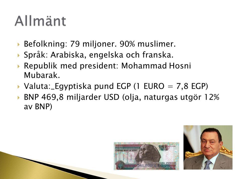 Allmänt Befolkning: 79 miljoner. 90% muslimer.