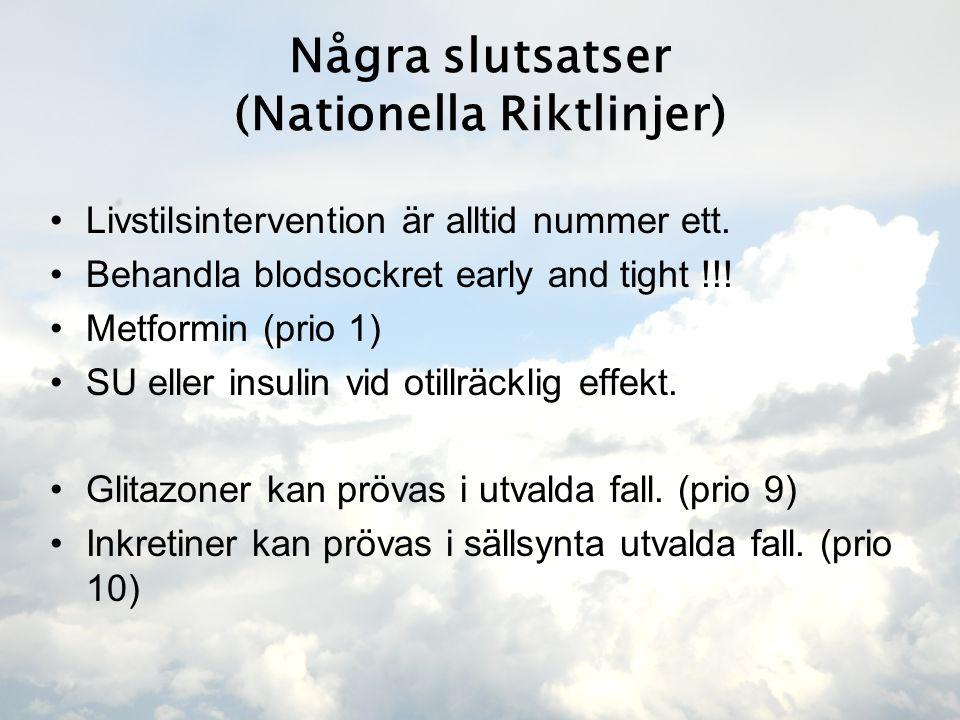 Några slutsatser (Nationella Riktlinjer)