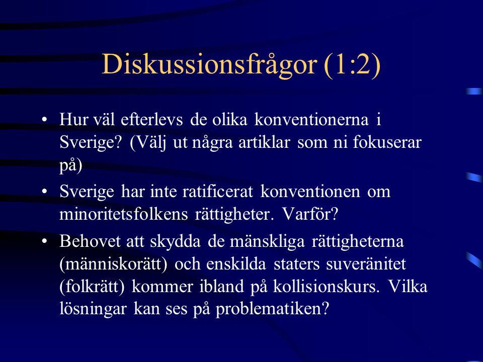 Diskussionsfrågor (1:2)