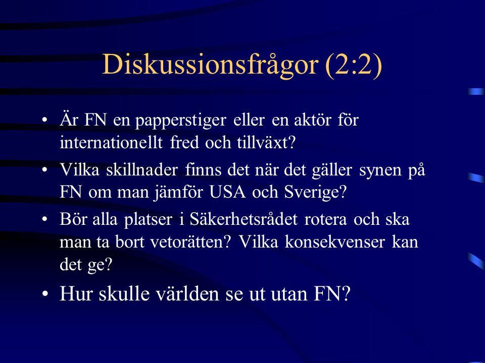 Diskussionsfrågor (2:2)