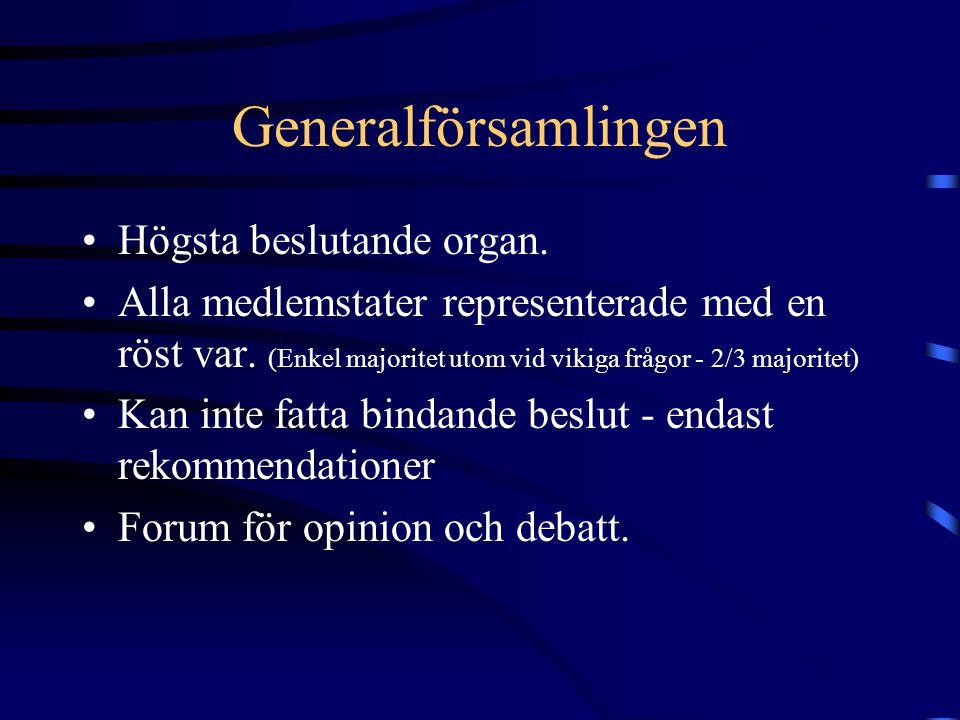 Generalförsamlingen Högsta beslutande organ.