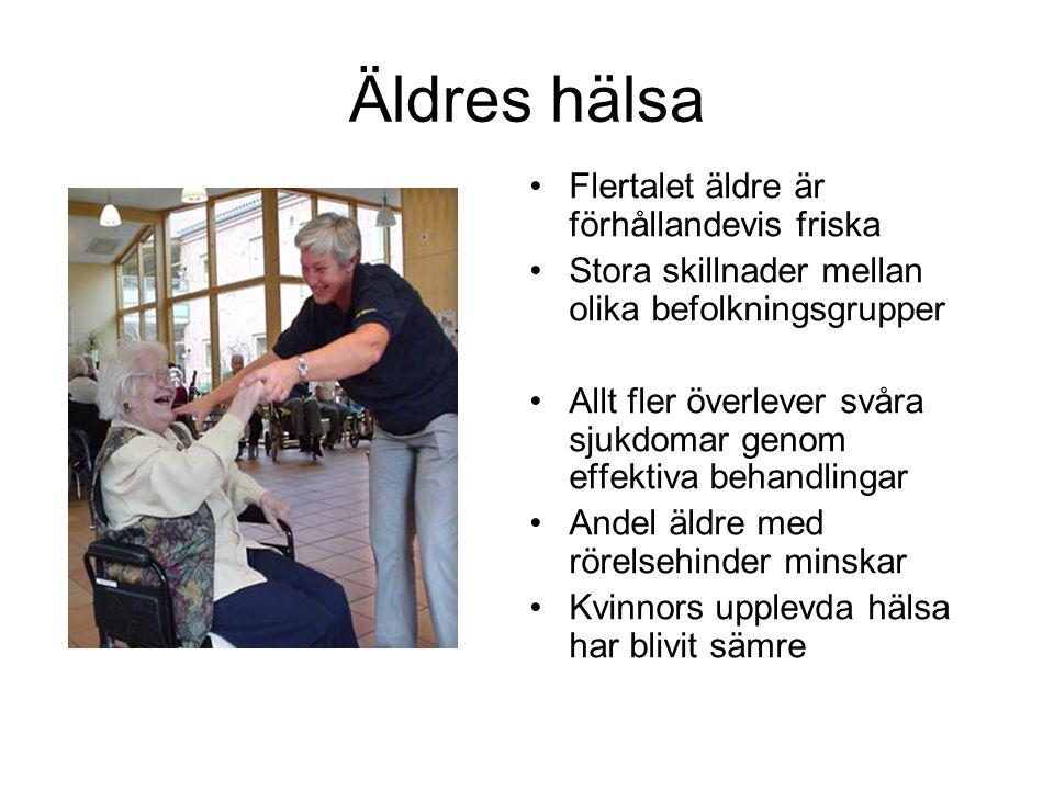 Äldres hälsa Flertalet äldre är förhållandevis friska