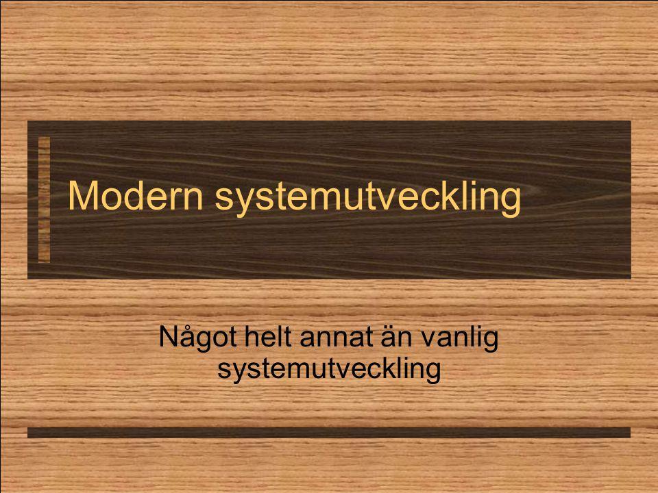 Modern systemutveckling