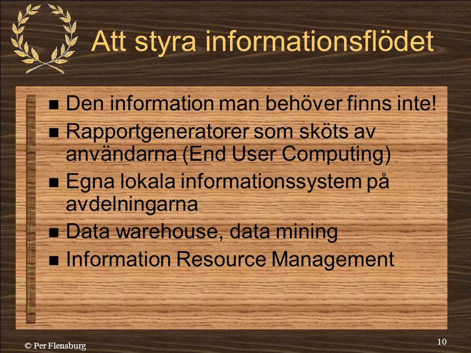 Att styra informationsflödet